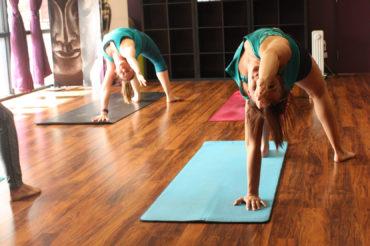 Flip Dog Yoga Pose, Group Yoga Instruction