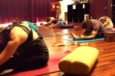 Seated Forward Fold, Yoga Class